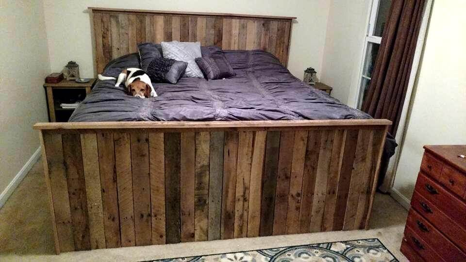 gorgeous pallet bed