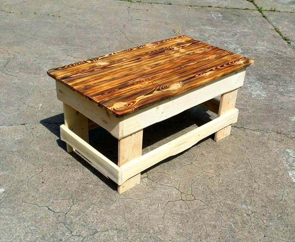 Coffee Table With Storage DIY Wood Pallet