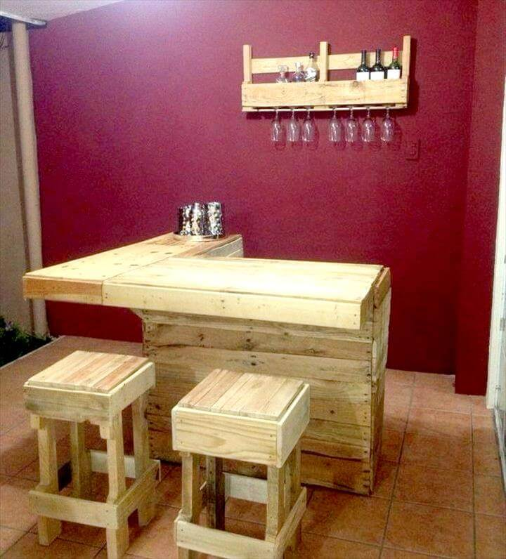 50+ Best-loved Pallet Bar Ideas & Projects