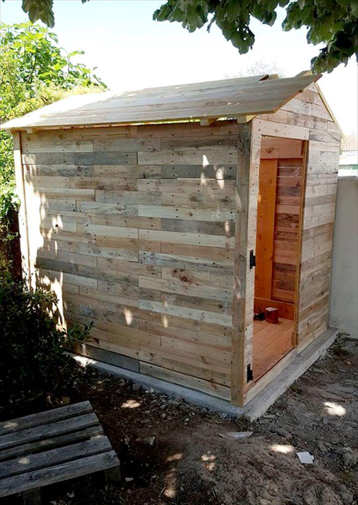 how to build a pallet garden shed
