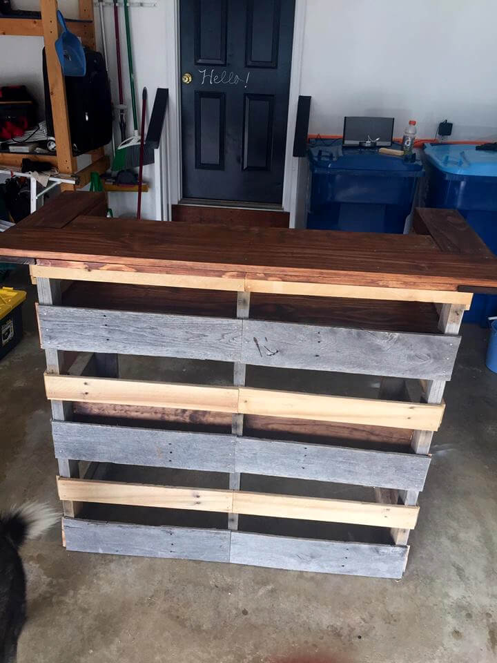 pallet bar step by step instructions