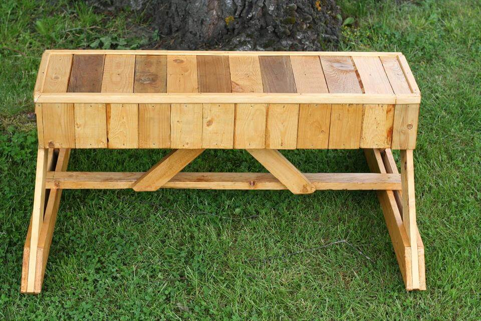 Bench out of Pallets
