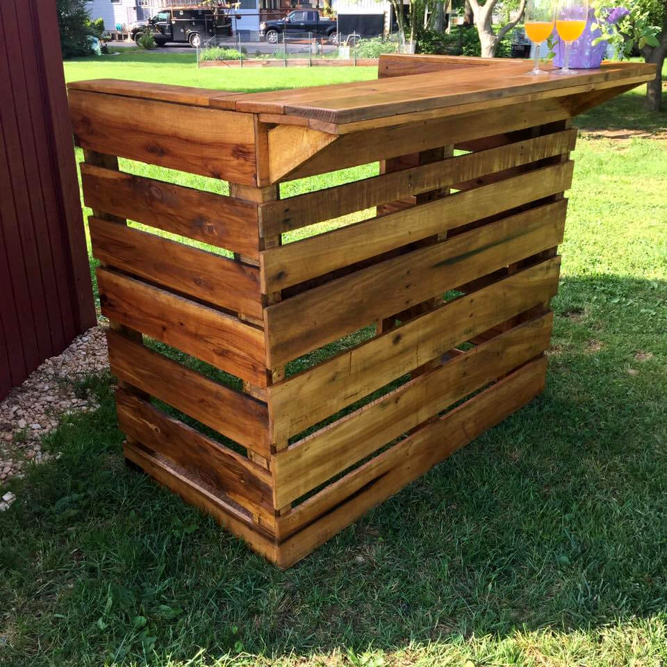Oak Pallet Bar For Father S Day 101 Pallet Ideas