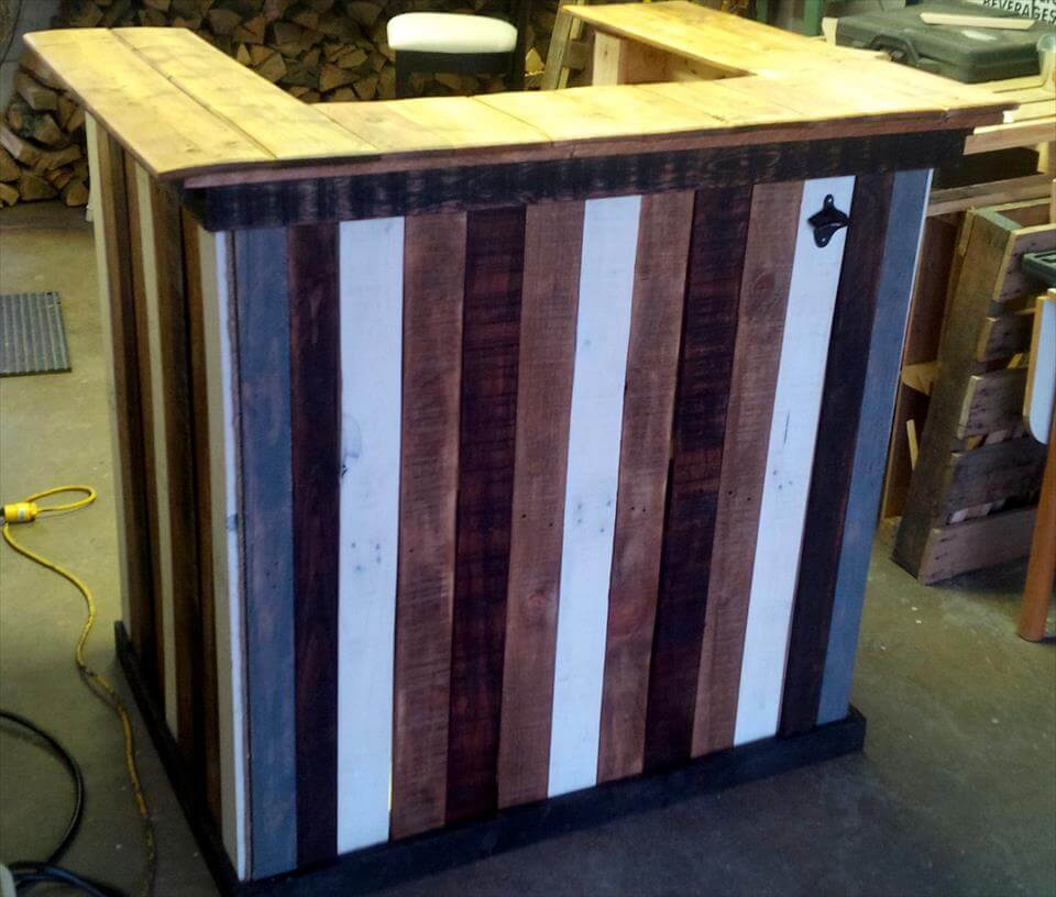 Beautiful Pallet Bar