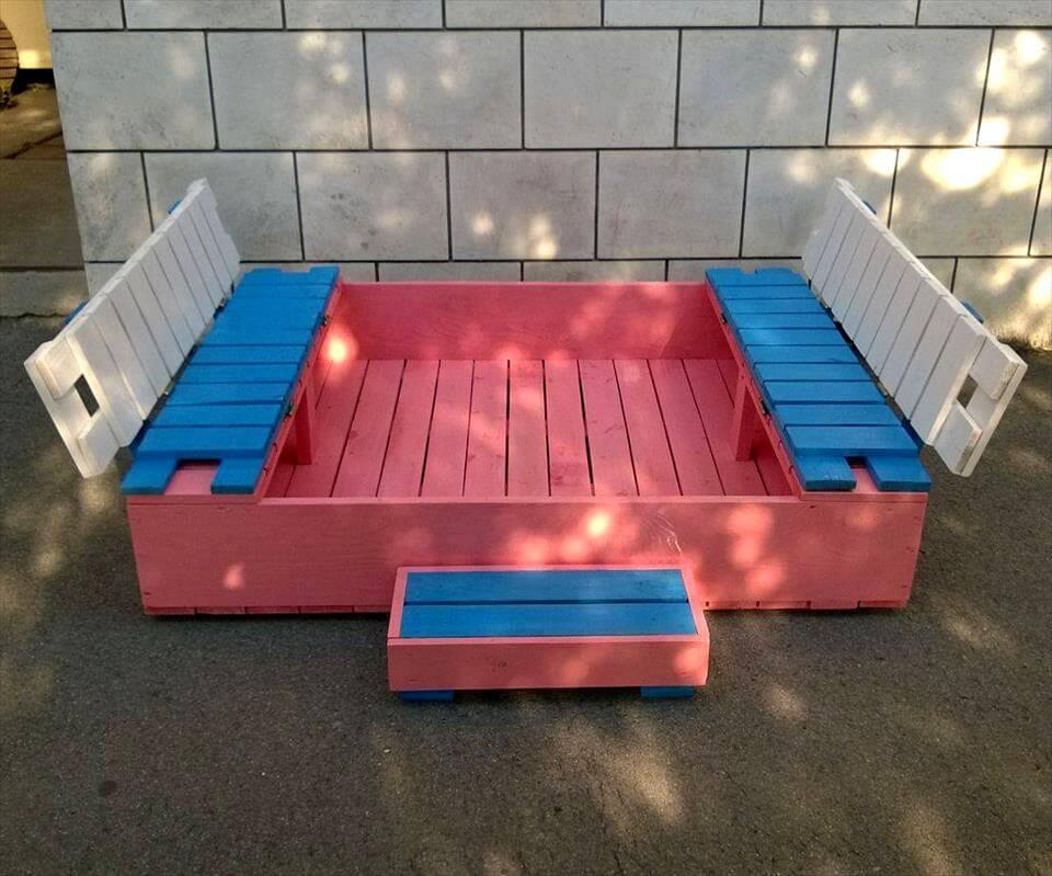 Painted Pallet Sandbox