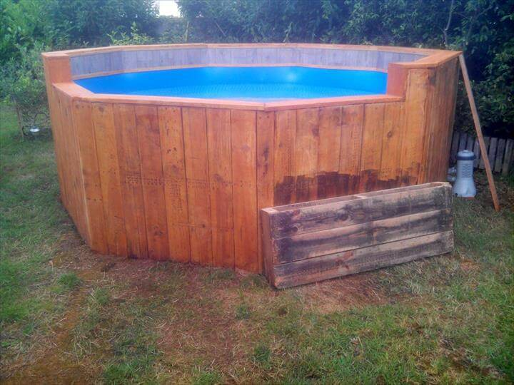 of Cost Pallet Swimming Pool Pallet Dining Table and Chairs DIY Pallet ...