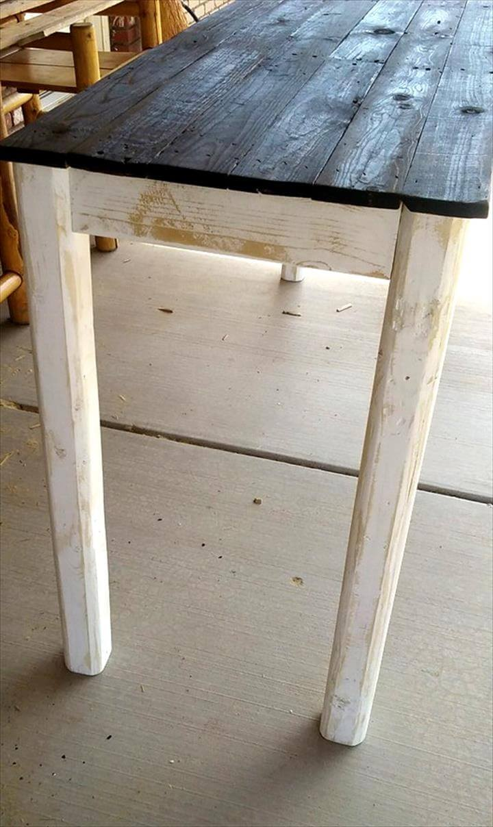 Pallet Entry Table Pallet Entryway Table Instructions 101 Pallet Ideas