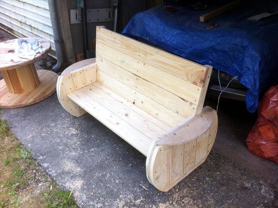 diy pallet garden bench