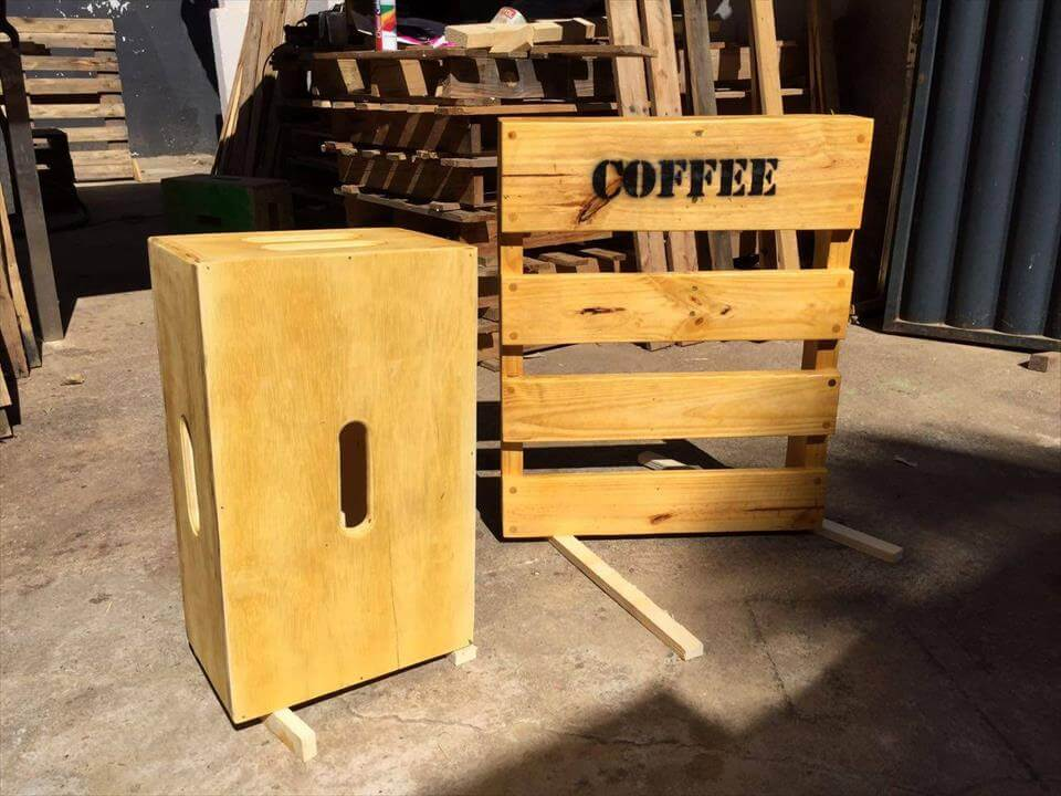 pallet coffee mug rack