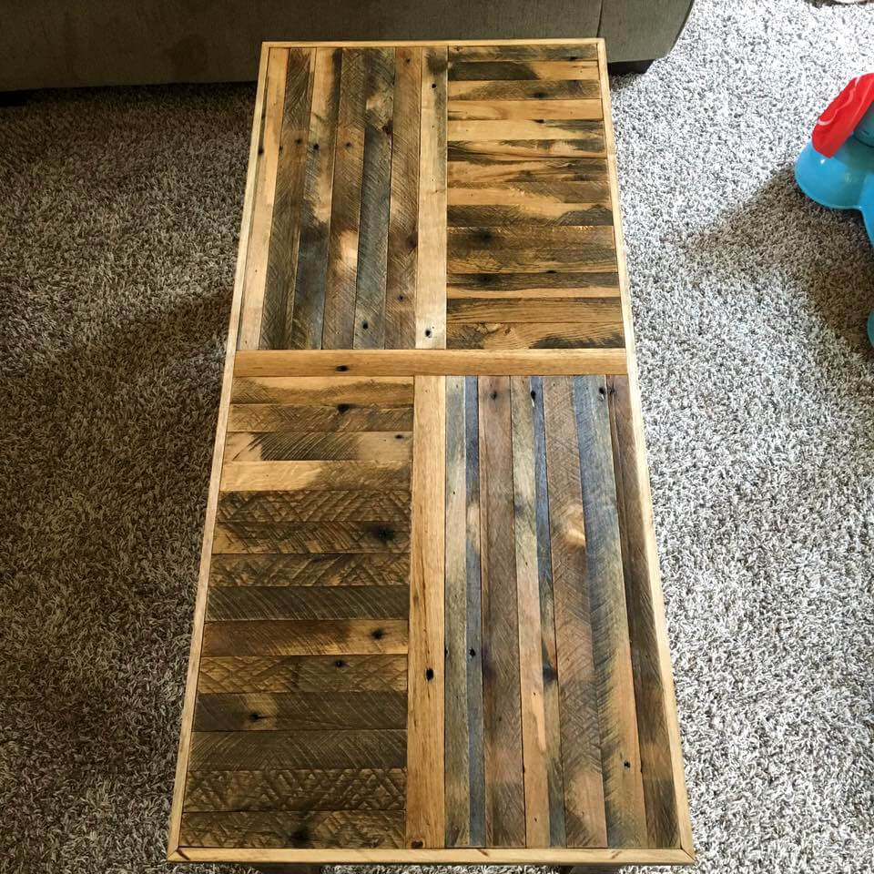 rustic yet modern pallet long coffee table