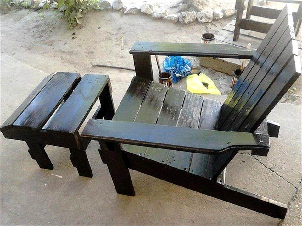 how to build a lawn chair out of pallets