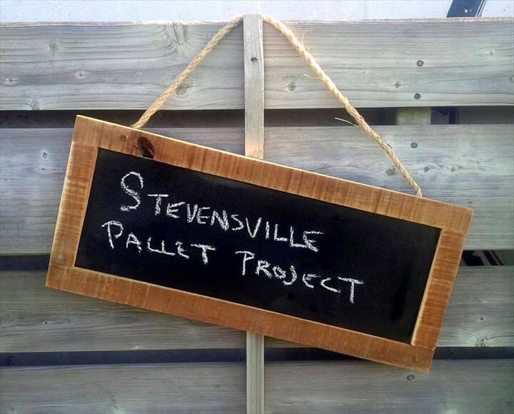 handcrafted pallet chalkboard