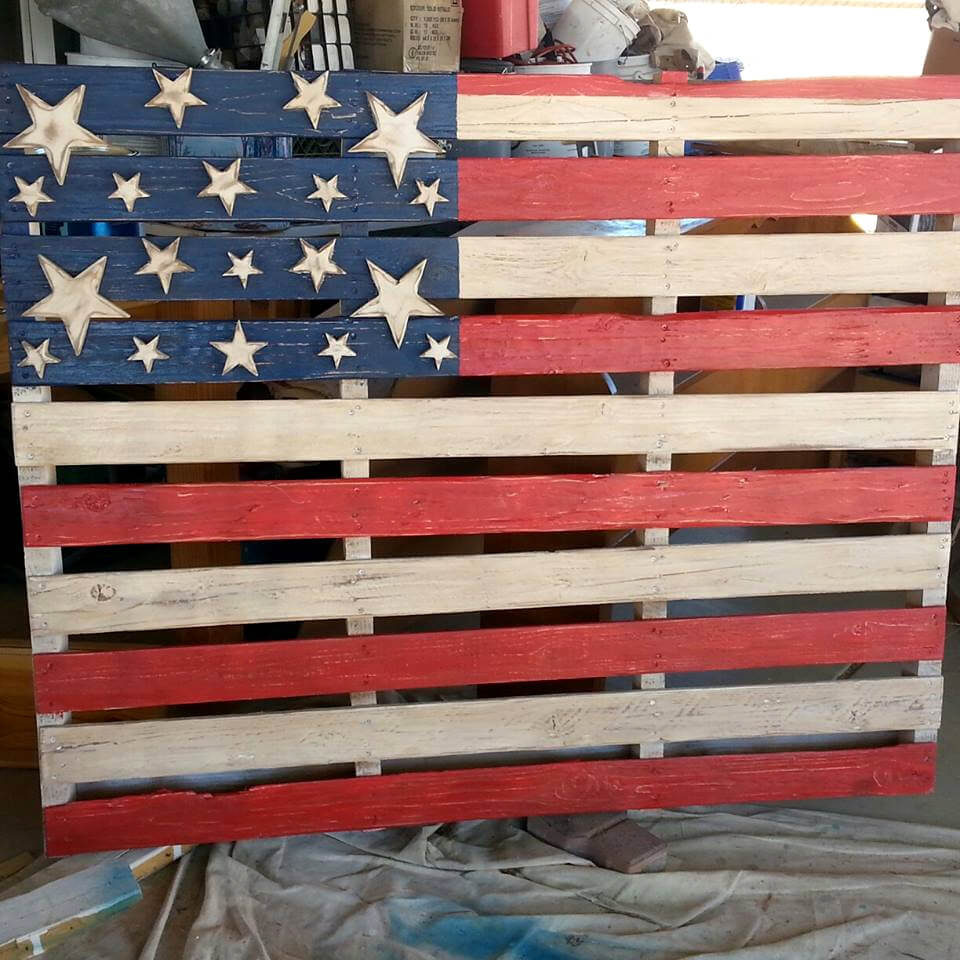 wooden pallet country flag wall art