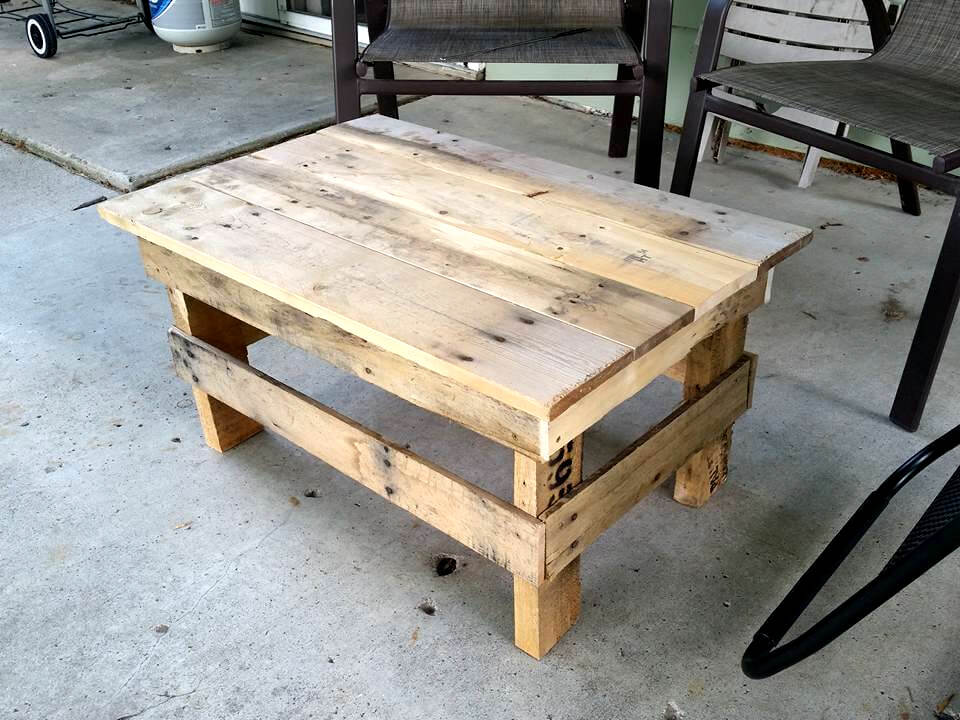 30 diy pallet ideas for your home for Pallet coffee table ideas