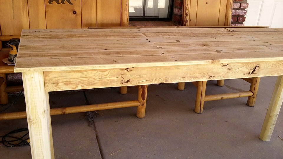Pallet entryway table instructions 101 pallet ideas for Wood table instructions