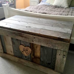 personalized wooden pallet chest