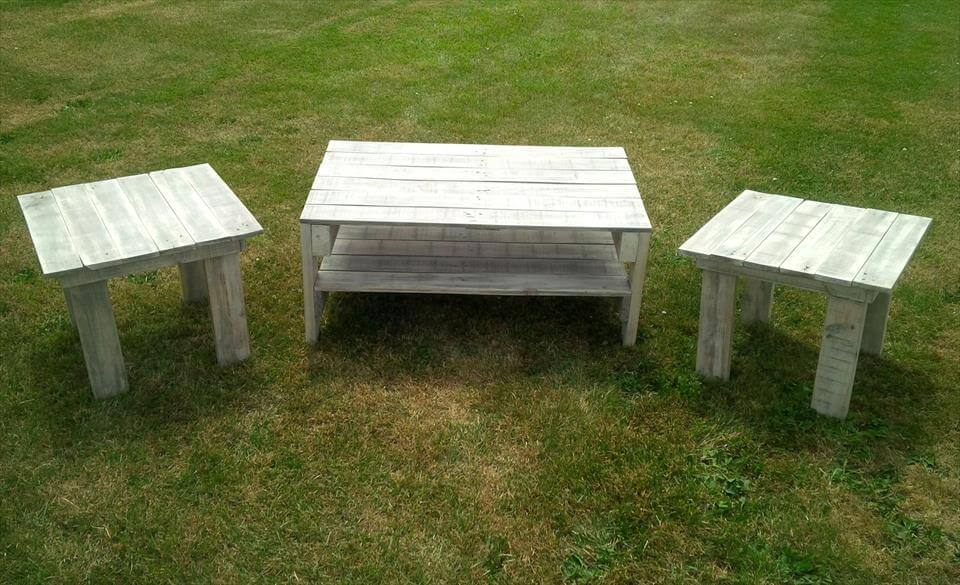 wooden pallet living room table set