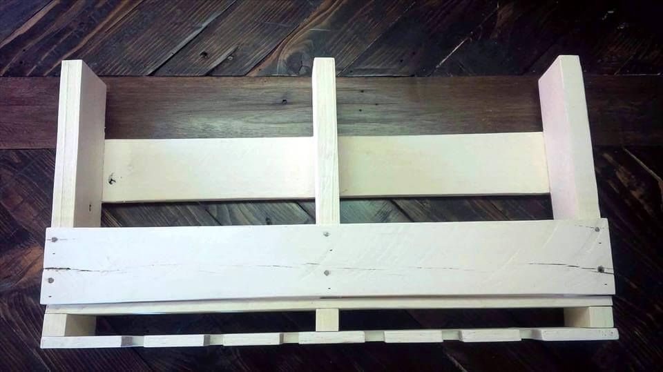 white painted wall shelf
