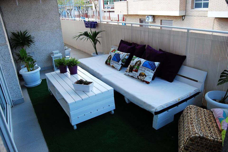 pallet balcony sitting furniture set!