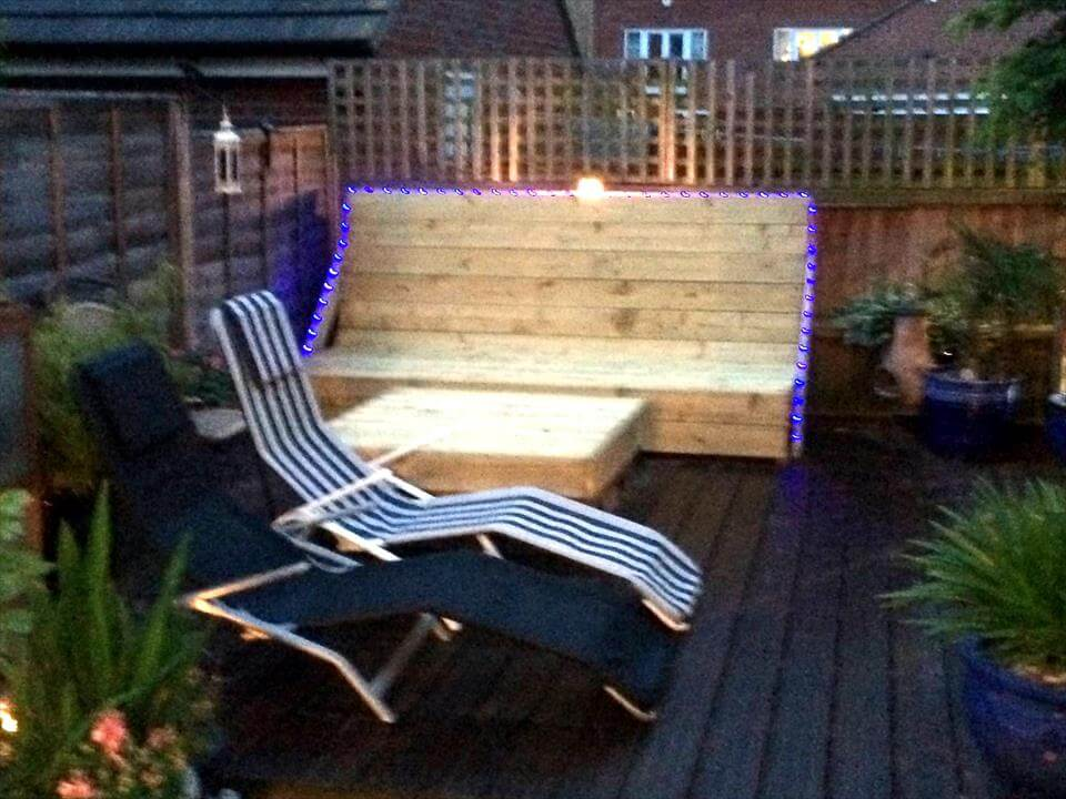diy deck done with pallets