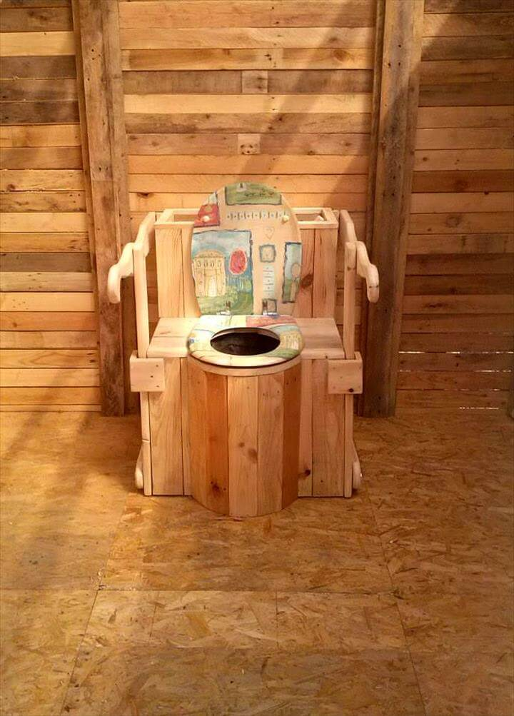 Outdoor Pallet Toilet Cabin 101 Pallet Ideas