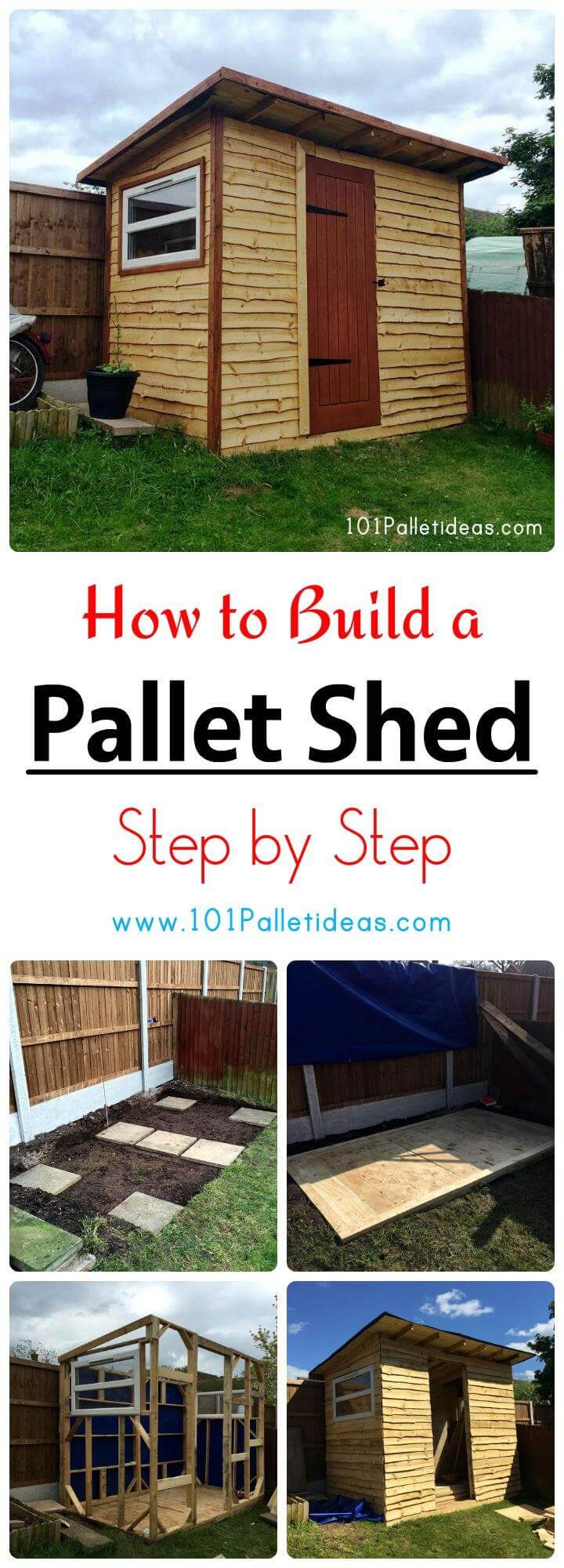 How to Build a Pallet Shed - Step by Step