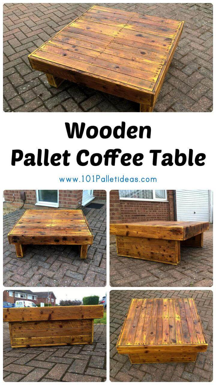 Wood Pallet Coffee Table ~ Wooden pallet coffee table