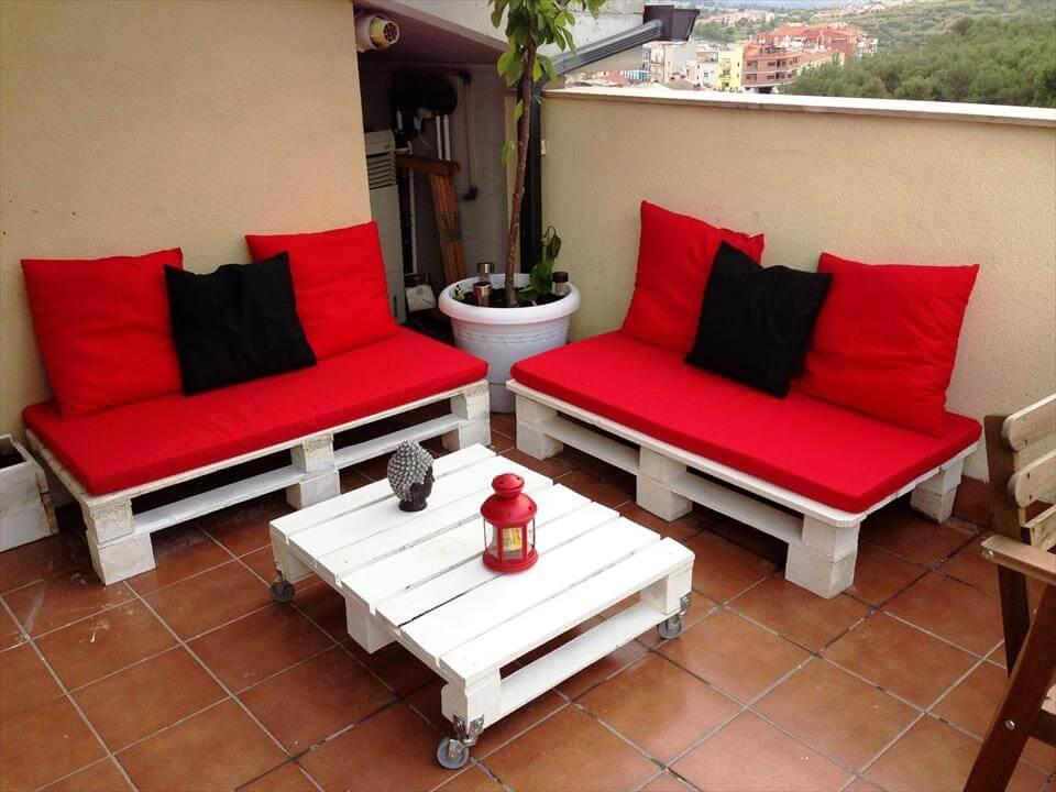muebles de terraza plataforma de madera