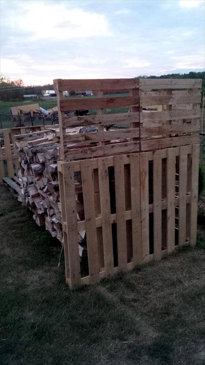 building a firewood shed with pallets