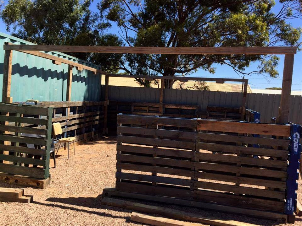 recycled pallet greenhouse
