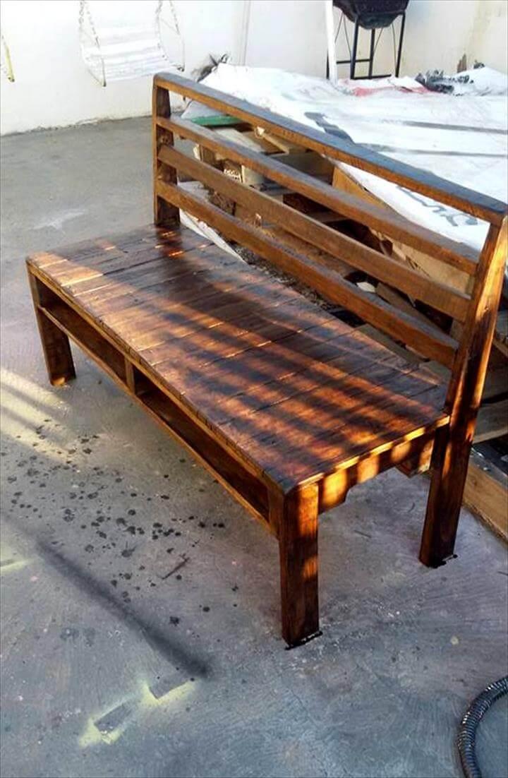 DIY Wooden Pallet Bench 101 Ideas
