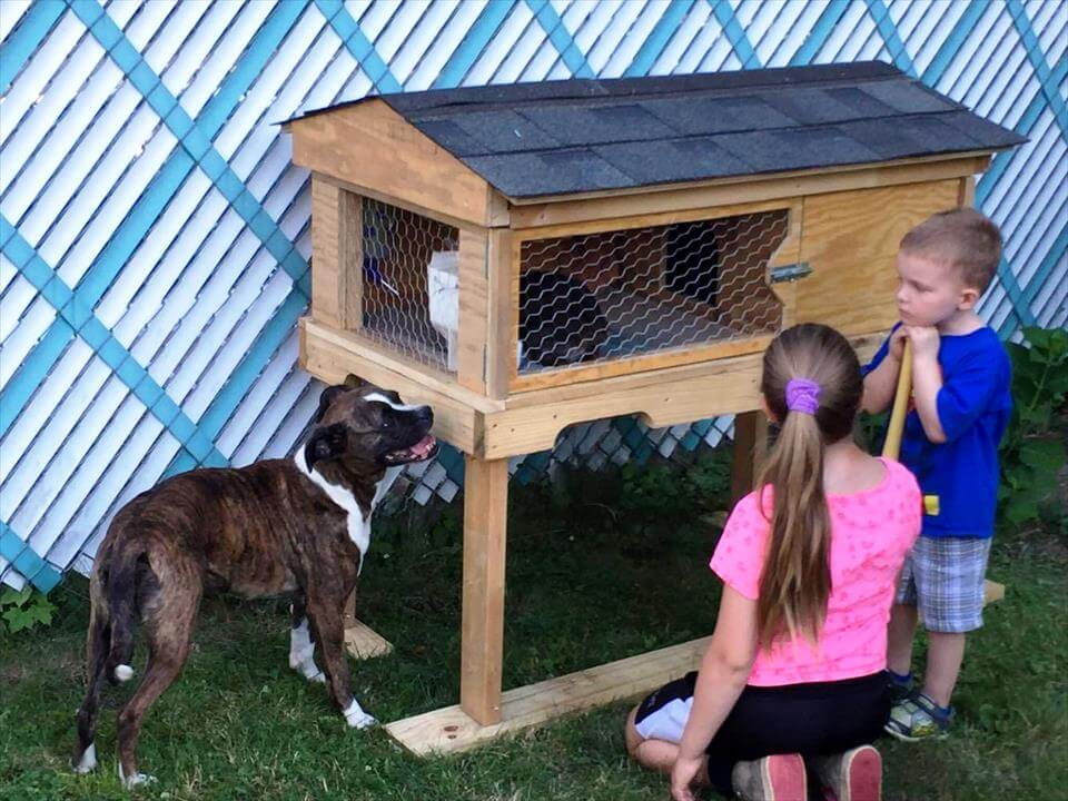How To Build A Rabbit Hutch Out Of Pallets