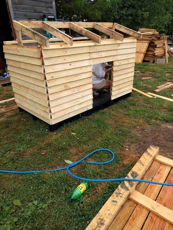 no-cost pallet dog house