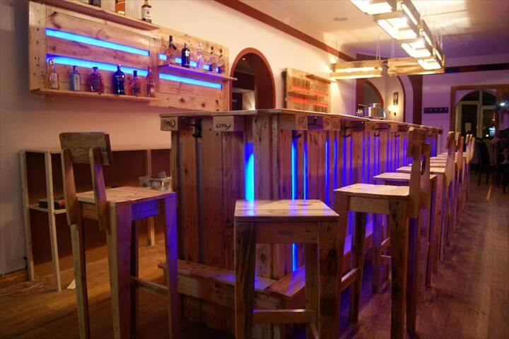 Gorgeous Wood Pallet Bar Projects