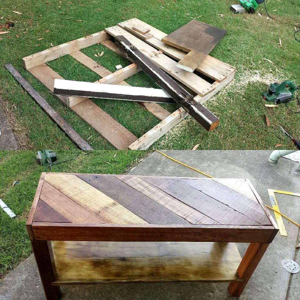 Rustic Wood Pallet Coffee Table: DIY Pallet Coffee Table OR TV Unit