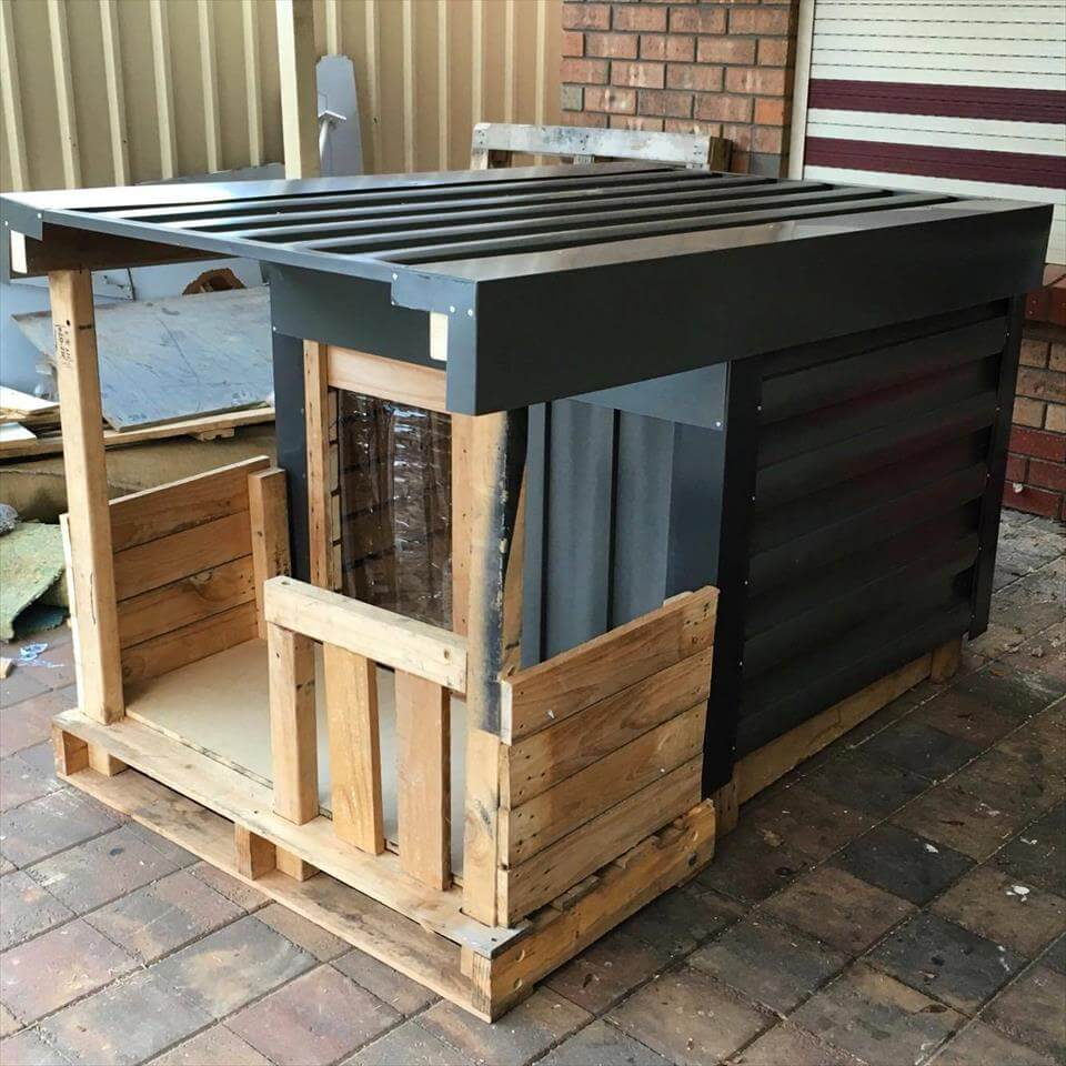 Pallet Dog House with Veranda – DIY