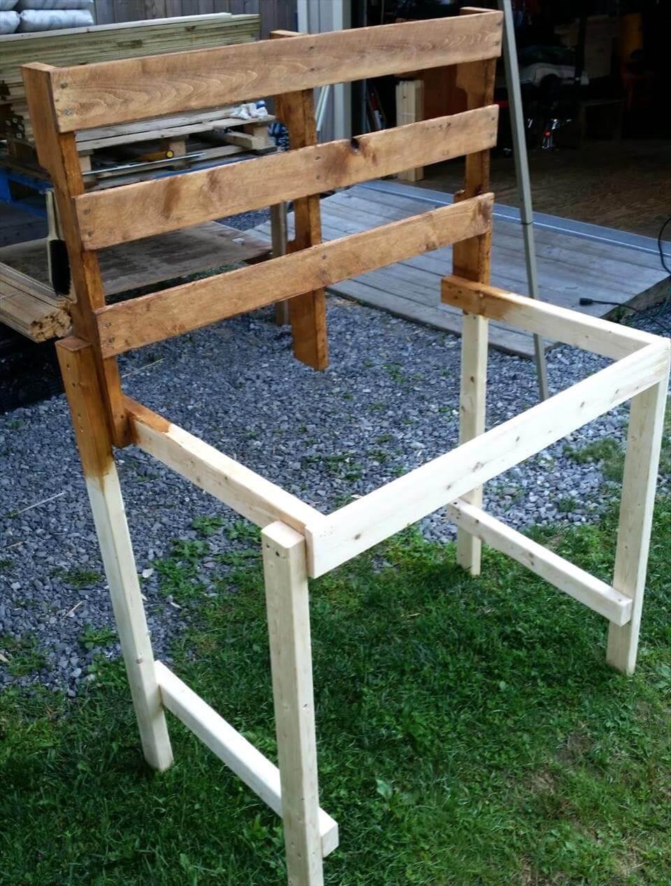 Pallet Potting Bench Step By Step