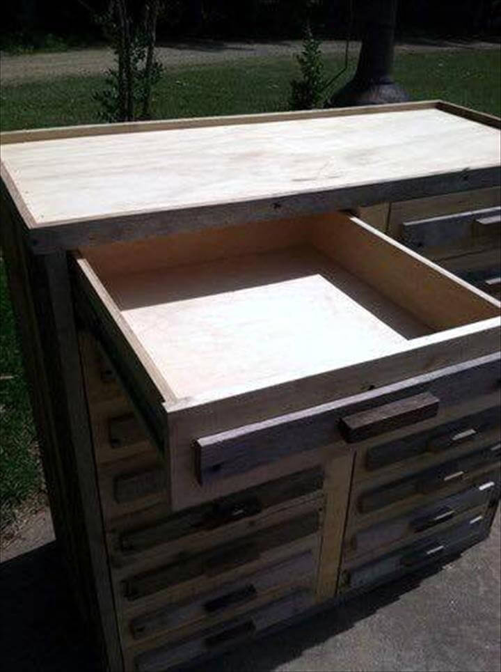pallet wood drawers