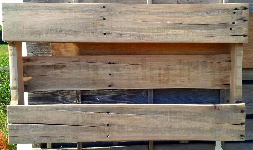 handmade wooden pallet shelf