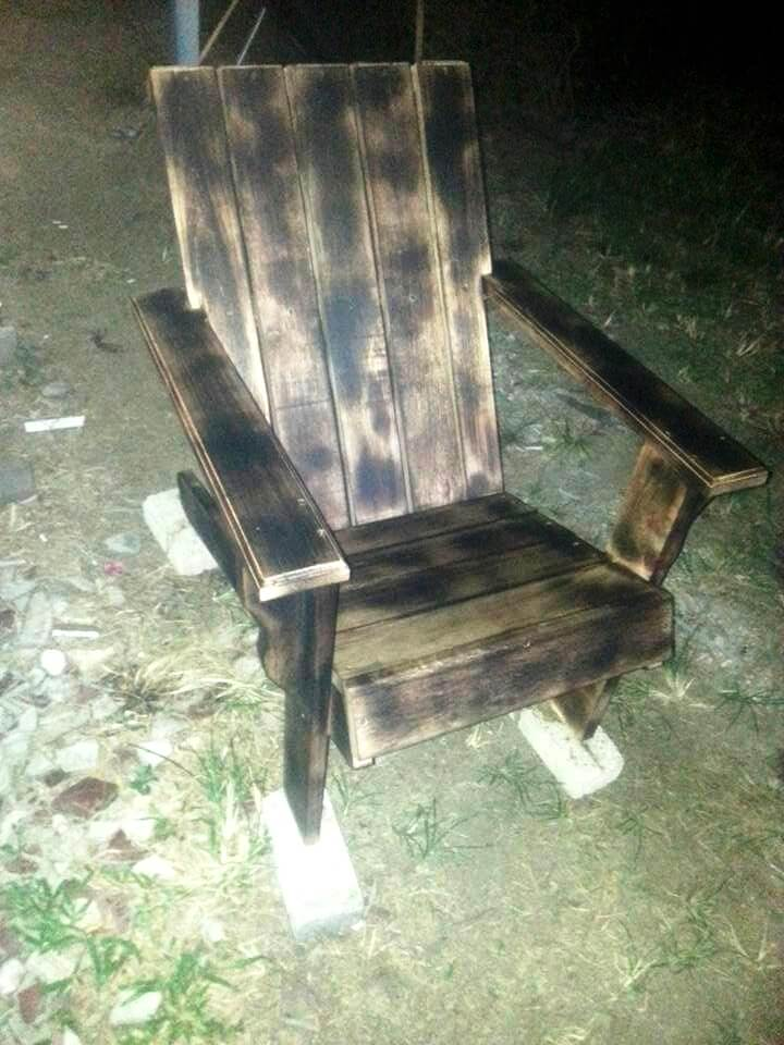 scorched pallet outdoor chair