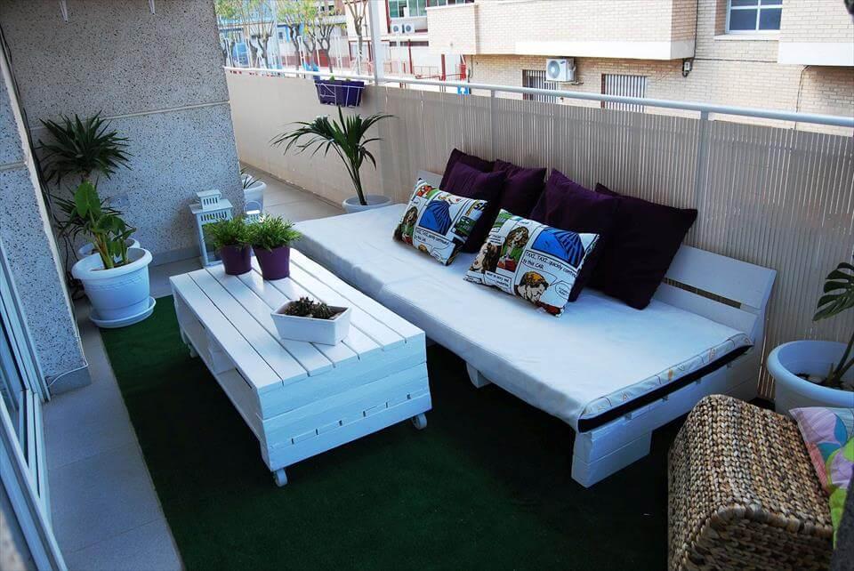 sin costo muebles palet balcón