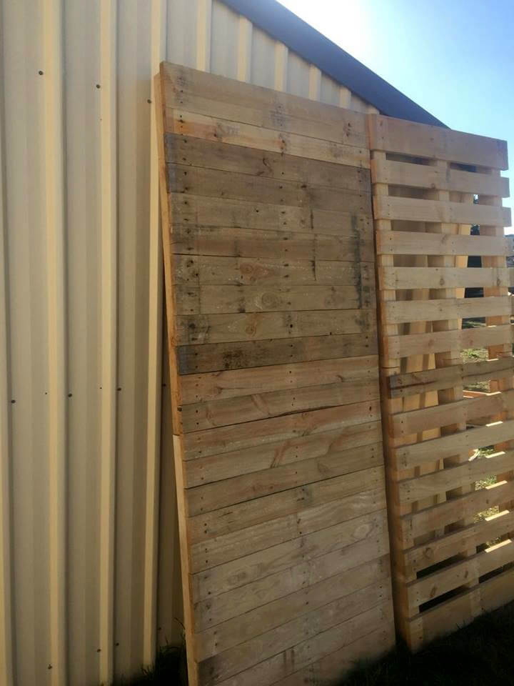 custom pallet filled boards