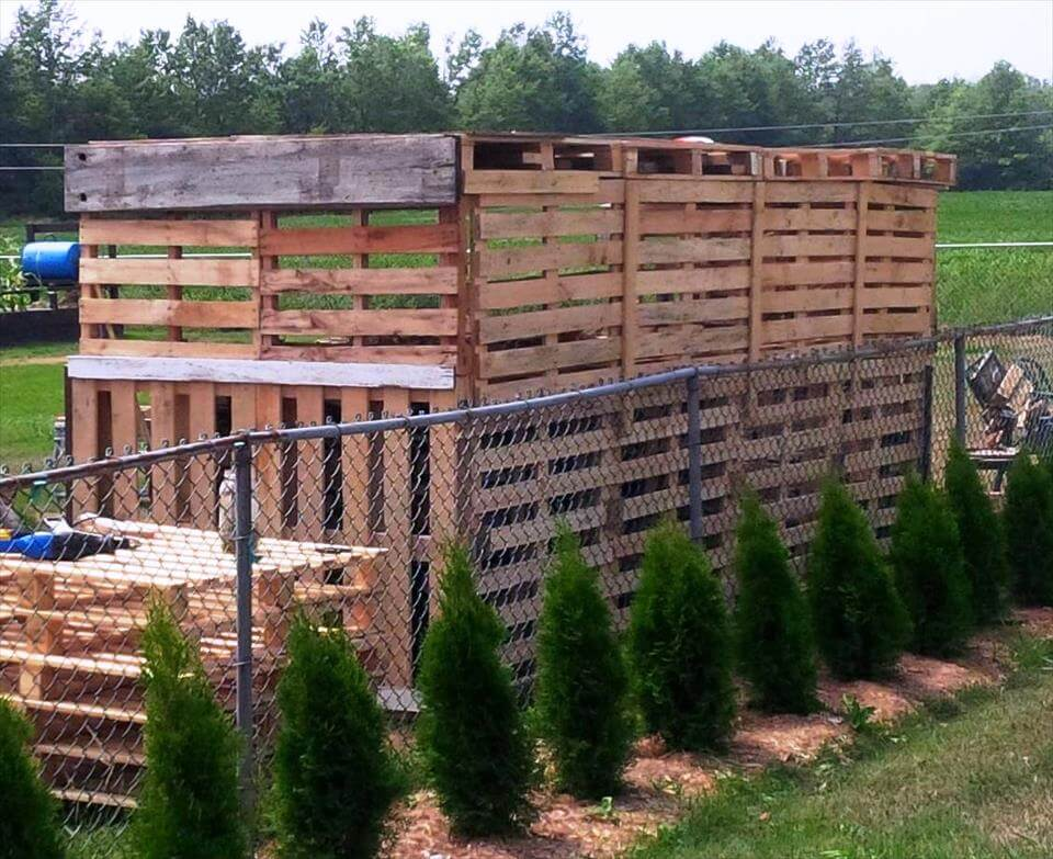no-cost wooden pallet firewood shed