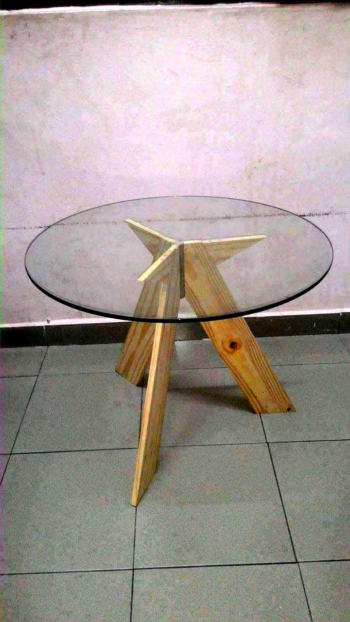 pallet glass top table. Black Bedroom Furniture Sets. Home Design Ideas