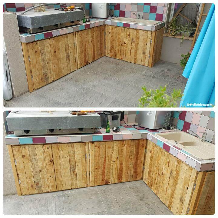15 top pallet projects you can build at home for Pallet kitchen ideas