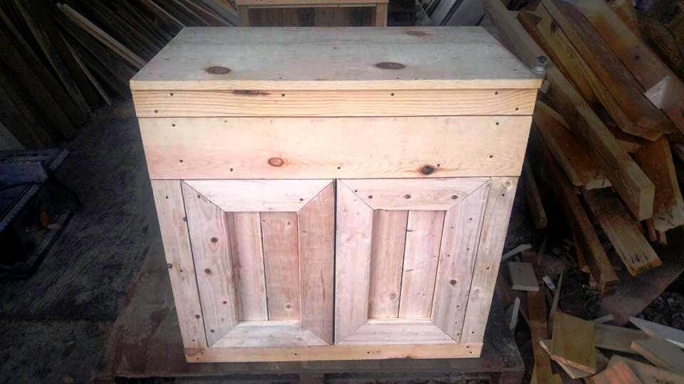 simply made pallet night stand