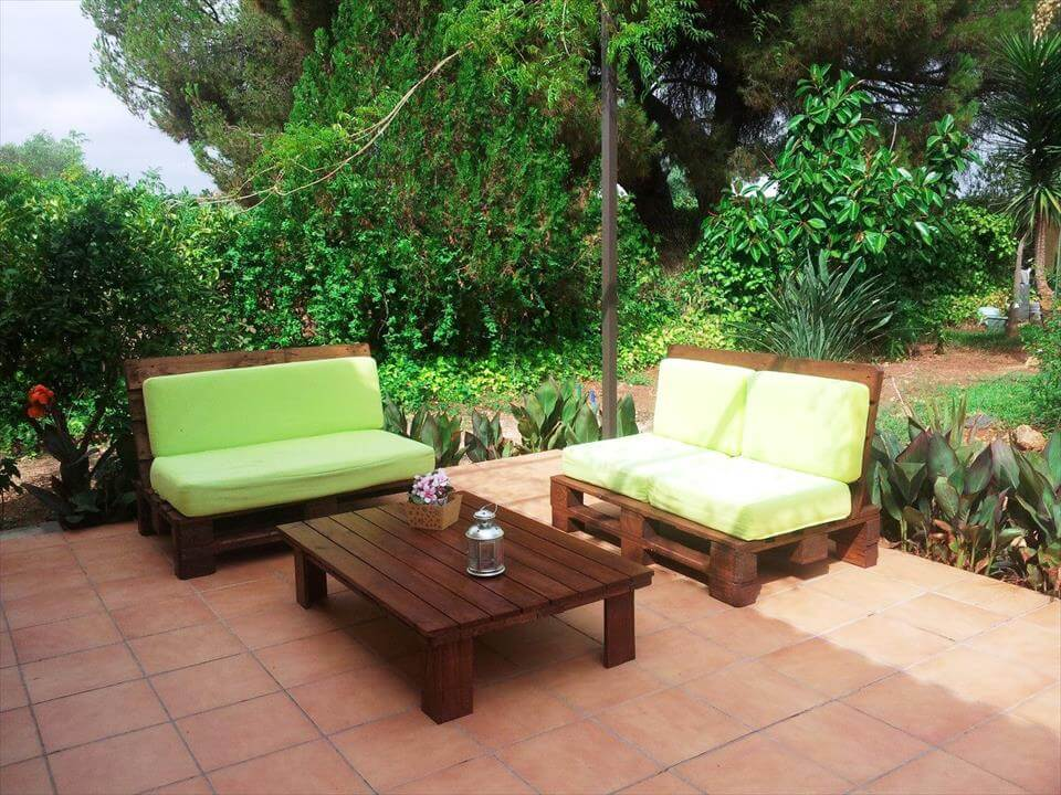 handmade robust pallet sitting furniture set. 50 Ultimate Pallet Outdoor Furniture Ideas