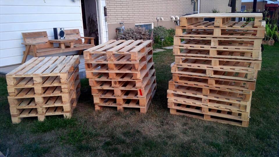 wooden pallet skids