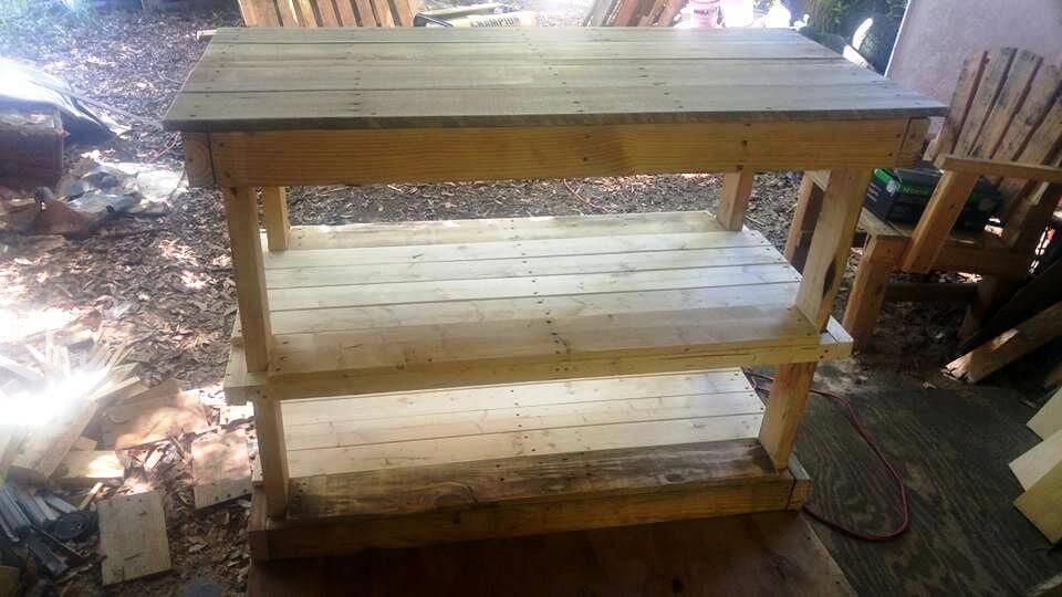 Three shelved sofa table