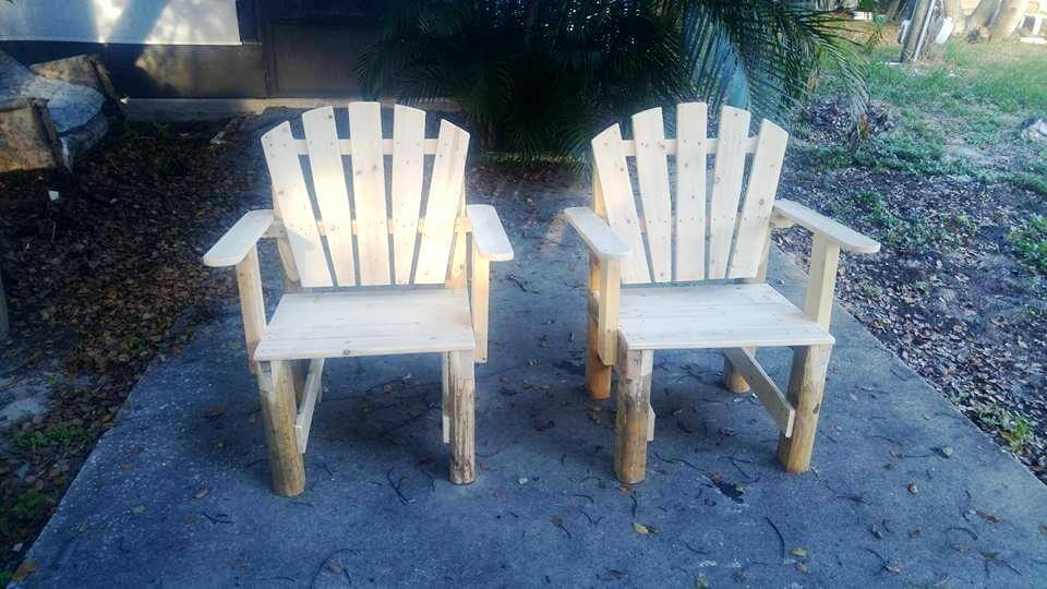 wooden pallet outdoor chairs